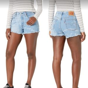 LEVI'S 501 Button Fly Cut Off High Rise Jean Short